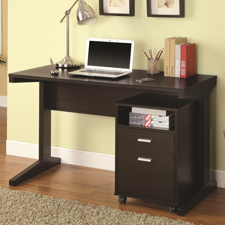 Desk Set With Rolling File Cabinet