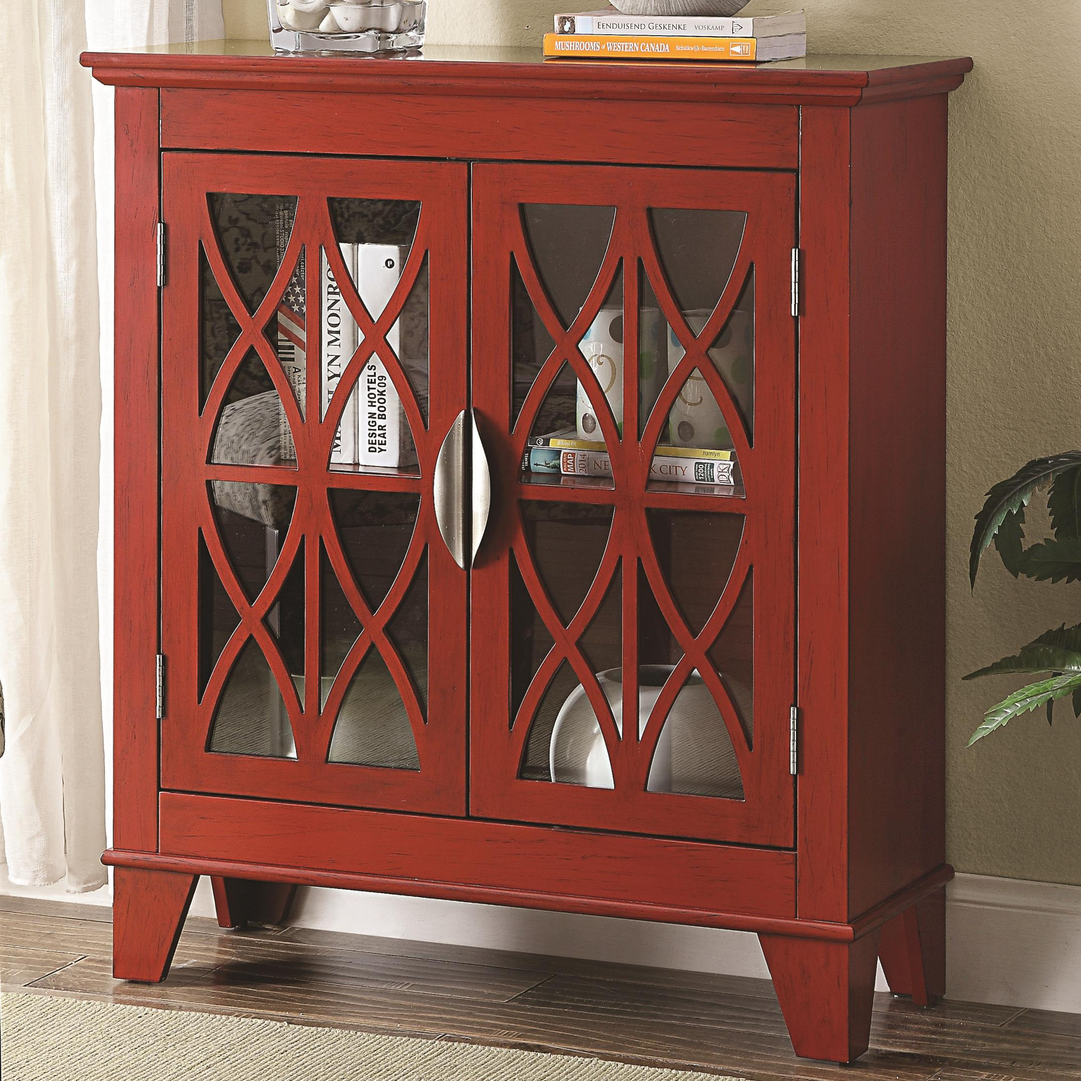 Accent Cabinet W Glass Doors Knox Furniture Direct